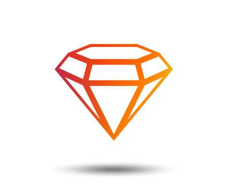 Diamond sign icon of Jewelry symbol.  Blurred gradient design element. Ilustrace