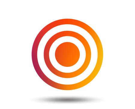 Target aim sign icon. Dart board symbol. Blurred gradient design element. Vivid graphic flat icon. Vector