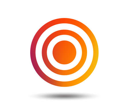 Target aim sign icon. Dart board symbol. Blurred gradient design element. Vivid graphic flat icon. Vector
