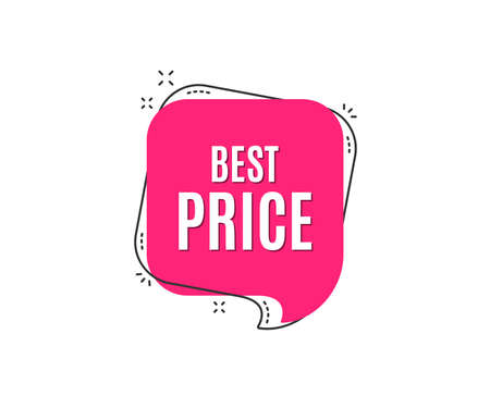 Best Price. Special offer Sale sign. Advertising Discounts symbol. Speech bubble tag. Trendy graphic design element. Vector