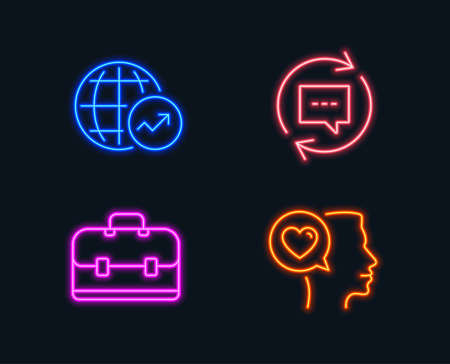 Neon lights. Glowing graphic designs. Vector Illustration