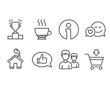 Set of feedback icons illustration
