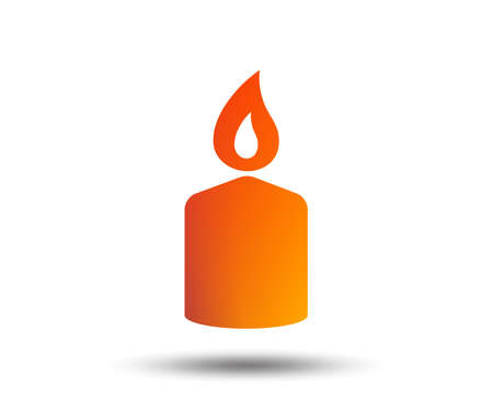 Candle sign icon. Fire symbol. Blurred gradient design element. Vivid graphic flat icon. Vector