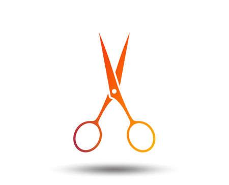 Scissors hairdresser sign icon. Tailor symbol. Blurred gradient design element. Vivid graphic flat icon. Vector Çizim
