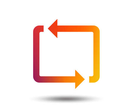 Repeat icon. Loop symbol. Refresh sign. Blurred gradient design element. Vivid graphic flat icon. Vector Illustration