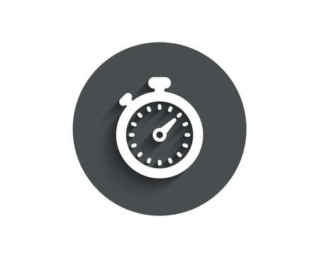 Timer simple icon. Stopwatch symbol. Time management sign. Ilustrace