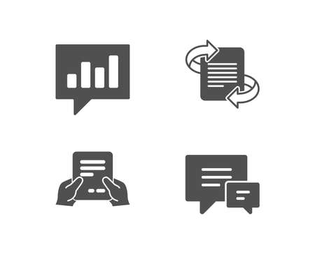 File management icons with bar chart Stock Illustratie
