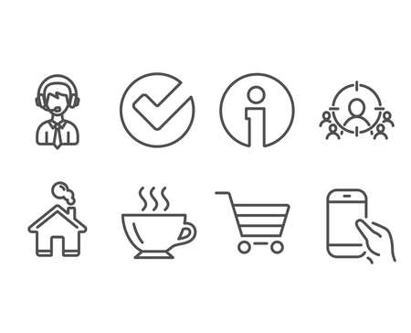 Set of Business targeting and online shopping icons