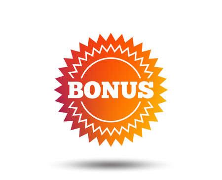 Bonus sign icon. Special offer star symbol. Blurred gradient design element. Vivid graphic flat icon. Vector  イラスト・ベクター素材