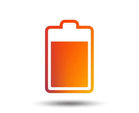 Battery level sign icon. Electricity symbol. Blurred gradient design element. Vivid graphic flat icon. Vector Vector Illustration