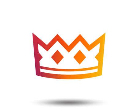 Icono de signo de corona . rey símbolo sombrero. botón de diseño gráfico de gradiente . diseño plano brillante icono . vector Foto de archivo - 102062253