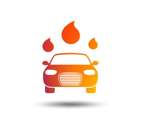 Car wash icon. Automated teller carwash symbol. Water drops signs. Blurred gradient design element. Vivid graphic flat icon. Vector