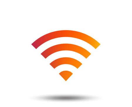 Wifi-Zeichen. Wi-Fi-Symbol. Symbol für das drahtlose Netzwerk. Wifi-Zone. Unscharfes Farbverlaufsgestaltungselement. Lebhaftes grafisches flaches Symbol. Vektor