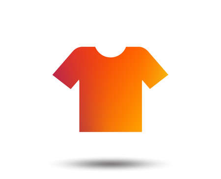 T-shirt sign icon. Clothes symbol. Blurred gradient design element. Vivid graphic flat icon. Vector