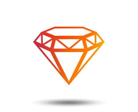 Diamond sign icon. Jewelry symbol. Gem stone. Blurred gradient design element. Vivid graphic flat icon.  イラスト・ベクター素材