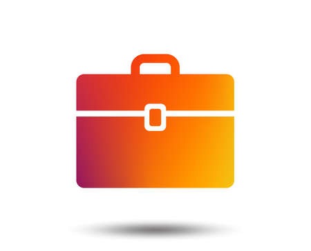 Case sign icon. Briefcase button. Blurred gradient design element. Vivid graphic flat icon.