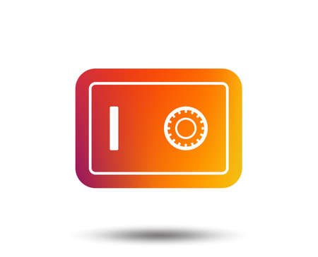 Safe sign icon. Deposit lock symbol. Protection for your documents in hotel. Blurred gradient design element. Vivid graphic flat icon. Illustration