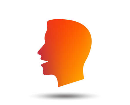 Talk or speak icon. Loud noise symbol. Human talking sign. Blurred gradient design element. Vivid graphic flat icon. Vector Stock fotó - 100521532