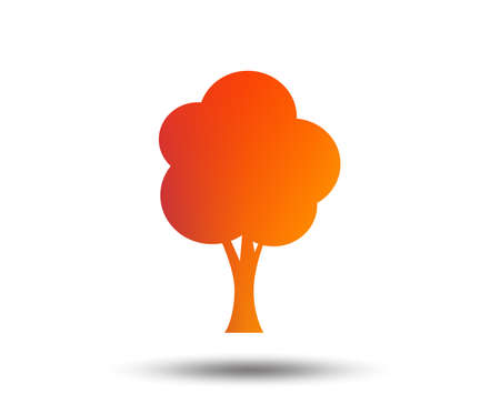 Tree sign icon. Forest symbol. Blurred gradient design element. Vivid graphic flat icon. 写真素材 - 100724697
