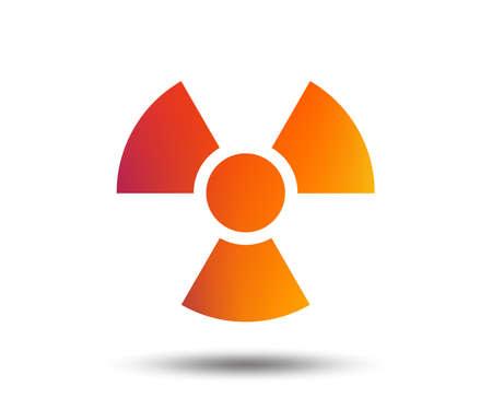 Radiation sign icon. Danger symbol. Blurred gradient design element. Vivid graphic flat icon.