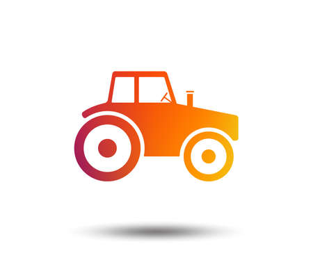 Tractor sign icon. Agricultural industry symbol. Blurred gradient design element. Vivid graphic flat icon. Vector Reklamní fotografie - 101608527