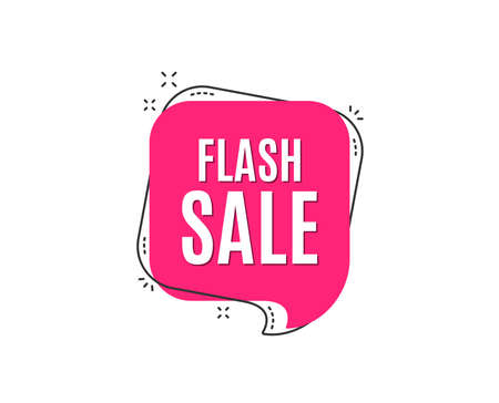 Flash Sale. Special offer price sign. Advertising Discounts symbol. Speech bubble tag. Trendy graphic design element. Vector