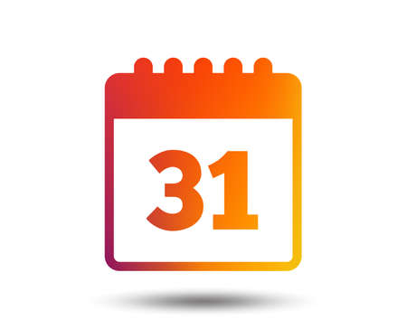 Calendar sign icon. Date or event reminder symbol. Blurred gradient design element. Vivid graphic flat icon. Vector