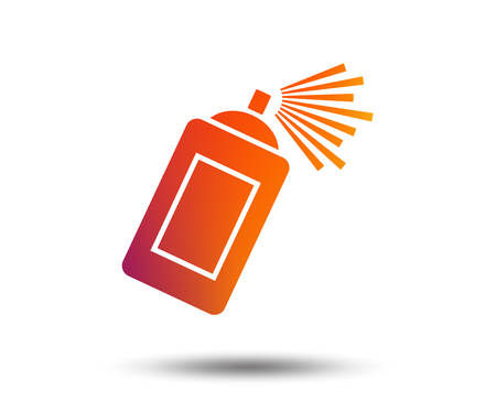 Graffiti spray can sign icon. Aerosol paint symbol. Blurred gradient design element. Vivid graphic flat icon. Vector