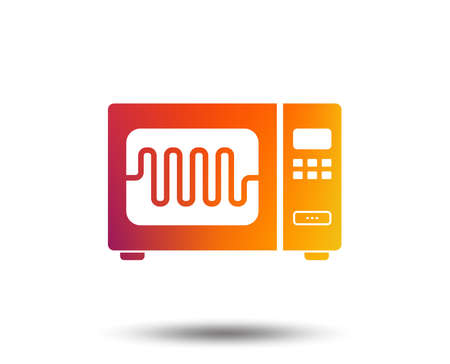 Microwave oven sign icon. Kitchen electric stove symbol. Blurred gradient design element. Vivid graphic flat icon. Vector Illustration