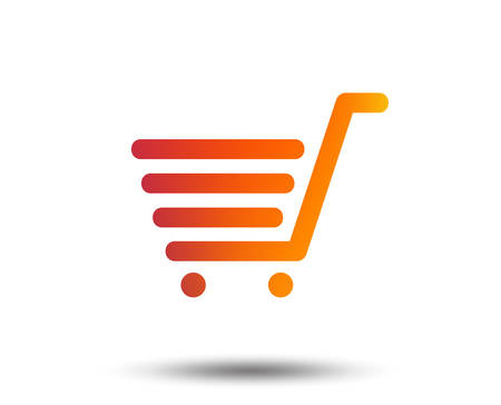 Shopping Cart sign icon. Online buying button. Blurred gradient design element. Vivid graphic flat icon. Vector Illustration