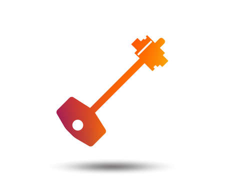 Key sign icon. Unlock tool symbol. Blurred gradient design element. Vivid graphic flat icon. Vector 向量圖像