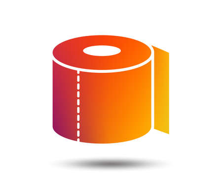 Toilet paper sign icon. WC roll symbol. Blurred gradient design element. Vivid graphic flat icon. Vector