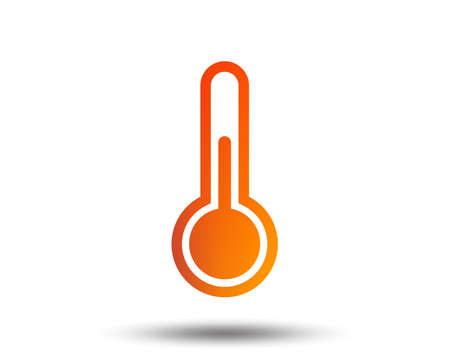 Thermometer sign icon. Temperature symbol. Blurred gradient design element. Vivid graphic flat icon. Vector