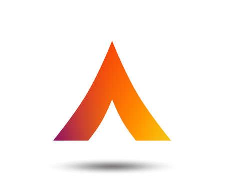 Tourist tent sign icon. Camping symbol. Blurred gradient design element. Vivid graphic flat icon. Vector