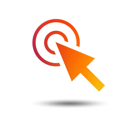 Mouse cursor sign icon. Pointer symbol. Blurred gradient design element. Vivid graphic flat icon. Vector Stock Illustratie