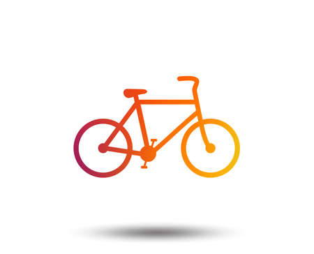 Bicycle sign icon. Eco delivery. Family vehicle symbol. Blurred gradient design element. Vivid graphic flat icon. Vector