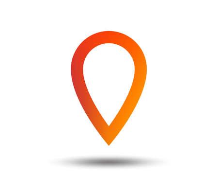 Map pointer sign icon. Location marker symbol. Blurred gradient design element. Vivid graphic flat icon. Vector