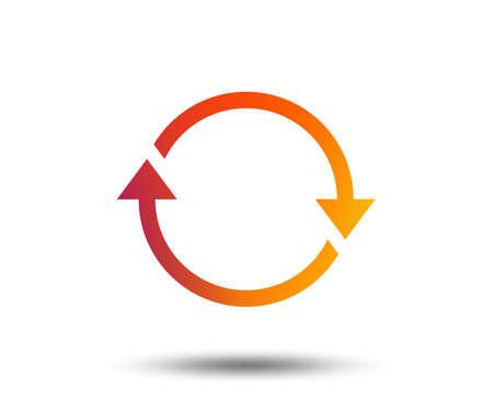 Rotation icon. Repeat symbol. Refresh sign. Blurred gradient design element. Vivid graphic flat icon. Vector