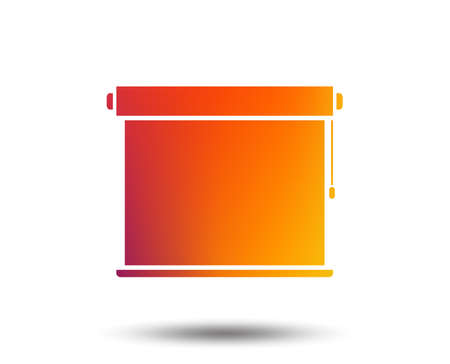 Louvers rolls sign icon. Window blinds or jalousie symbol. Blurred gradient design element. Vivid graphic flat icon. Vector  イラスト・ベクター素材