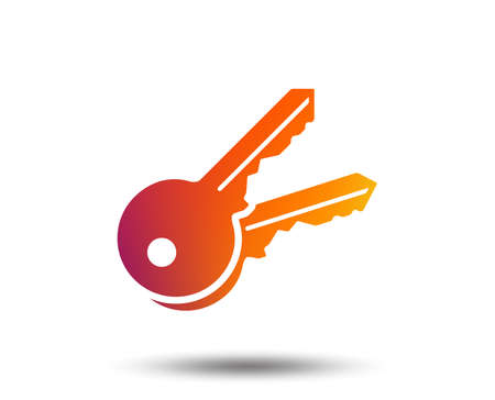 Keys sign icon. Unlock tool symbol. Blurred gradient design element. Vivid graphic flat icon. Vector