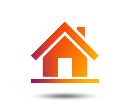 Home sign icon. Main page button. Navigation symbol. Blurred gradient design element. Vivid graphic flat icon. Vector