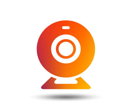 Webcam sign icon. Web video chat symbol. Camera chat. Blurred gradient design element. Vivid graphic flat icon. Vector