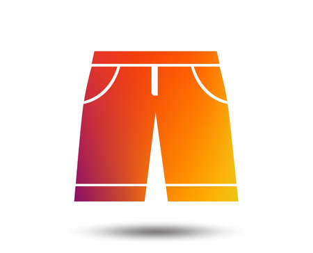 Mens Bermuda shorts sign icon. Clothing symbol. Blurred gradient design element. Vivid graphic flat icon. Vector