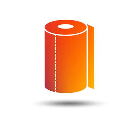 Paper towel sign icon. Kitchen roll symbol. Blurred gradient design element. Vivid graphic flat icon. Vector Archivio Fotografico - 111102239