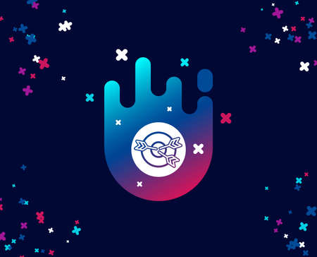 Target simple icon. Marketing targeting strategy symbol. Aim with arrows sign. Cool banner with icon. Abstract shape with gradient. Vector  イラスト・ベクター素材