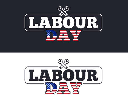 Labour Day slogan for T-shirt printing design. Tee graphic design. International Workers Labor Day. Tee-shirt print slogan. Textile graphic. Holiday typography. Vector