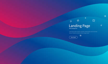 Wavy geometric background. Fluid gradient shapes composition. Futuristic design posters. Abstract banner with waves. Landing page concept. Trendy vector. Illusztráció