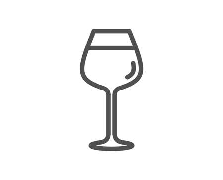 Wine glass line icon. Bordeaux glass sign. Quality design element. Classic style. Editable stroke wine. Vector