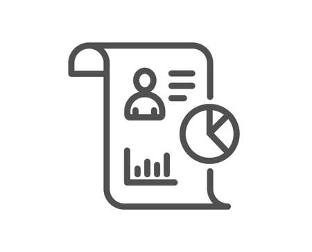 Report line icon. Business management sign. Employee statistics symbol. Quality design element. Classic style report. Editable stroke. Vector