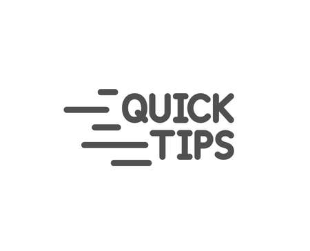 Quick tips line icon. Helpful tricks sign. Tutorials symbol. Quality design element. Classic style. Editable stroke. Vector Illustration